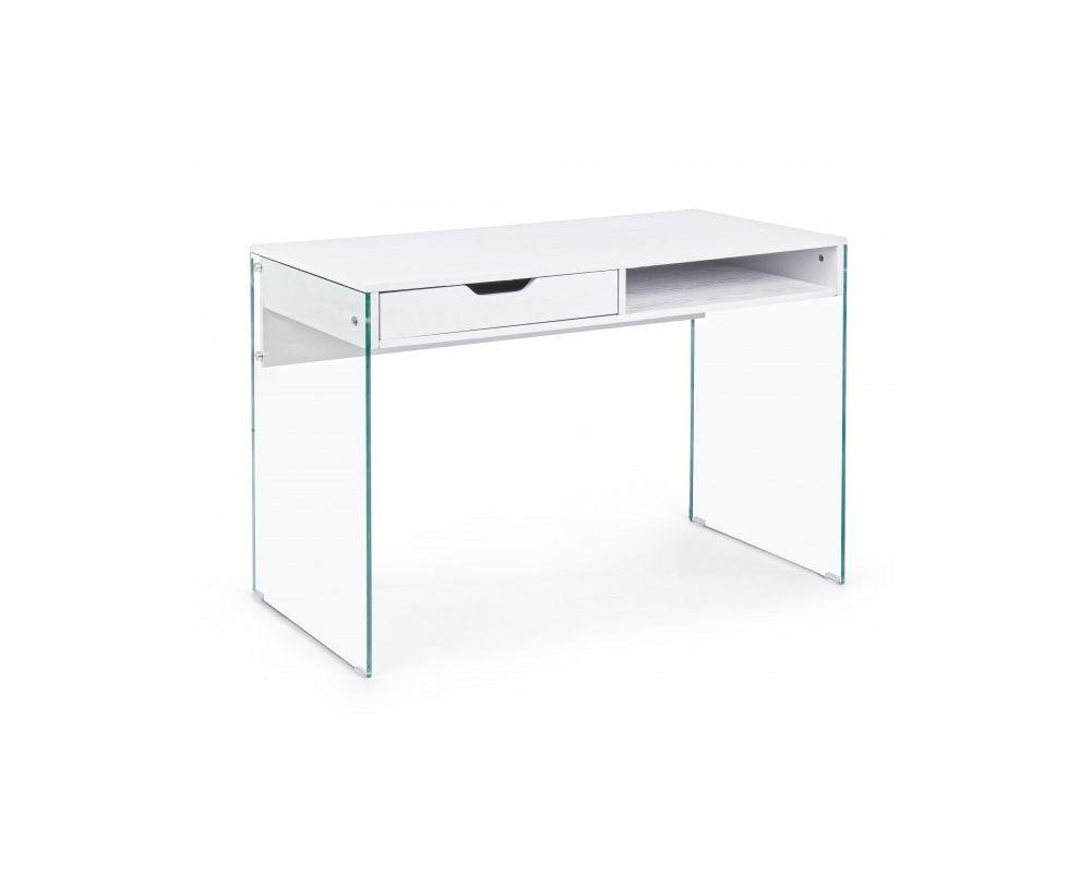 Scrivania In Legno Bianco : Scrivania di design in legno di mango e metallo colore bianco