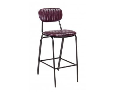 SGABELLO BAR DEBBIE BORDEAUX VINTAGE