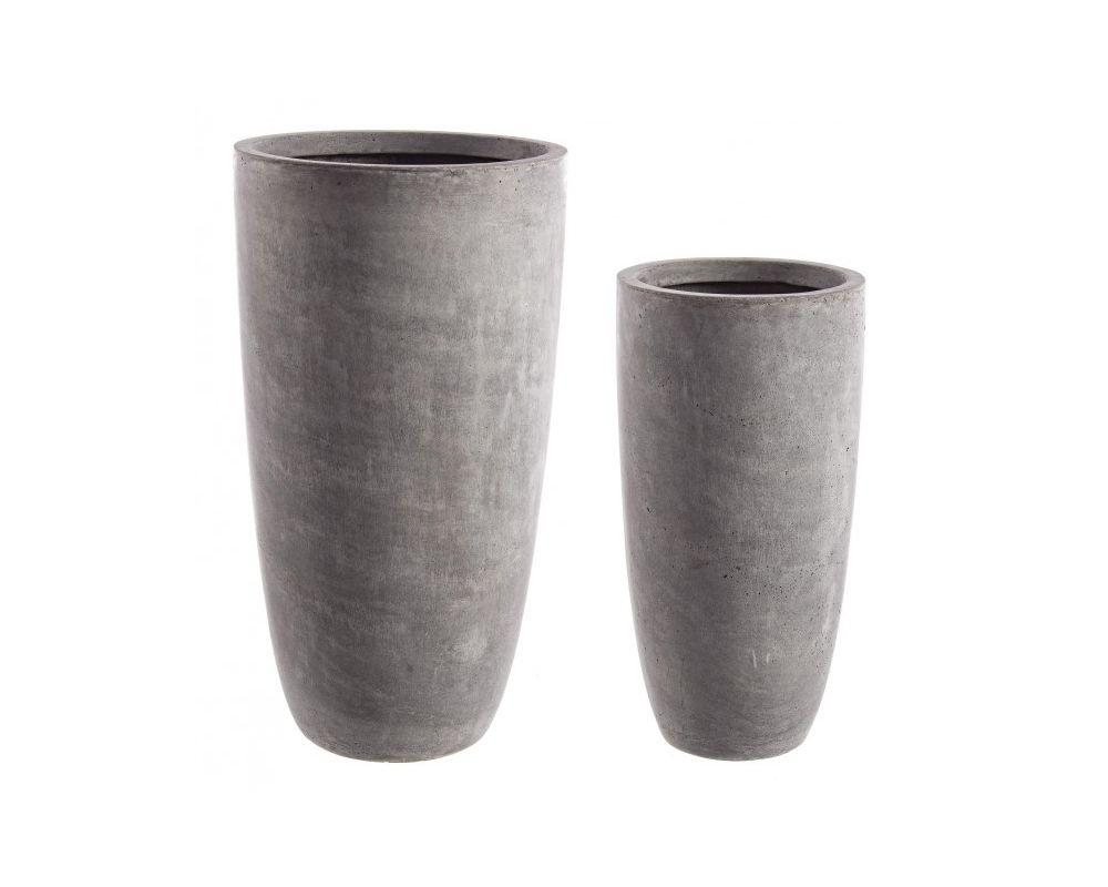 Vaso Esterno Grigio : Fibra di vetro e argilla colorata. foro con tappo sul fondo. da esterno.
