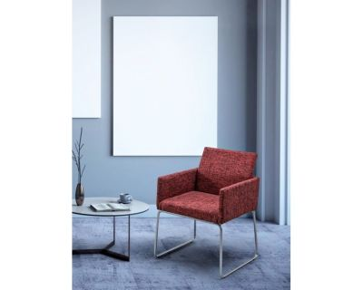 SEDIA C-BR SIXTY TEXT ROSSO