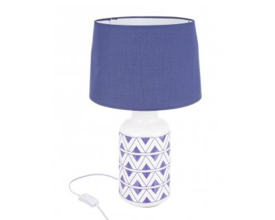 LAMPADA TAV. TUNISI CR BLU H48