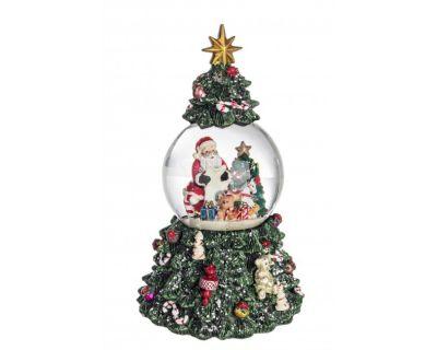 WATERBALL CHRISTMAS TREE C-CARILLON