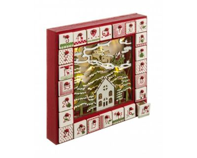 CALENDARIO AVVENTO MERRY BOX C-LED