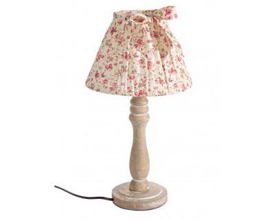 LAMPADA TAV. ROSELLINE ROSSO LEGNO H40