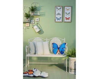 CUSCINO OPTIC WHITE BUTTERFLY 46X38