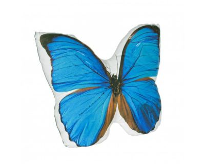 CUSCINO OPTIC BLUE BUTTERFLY 52X40