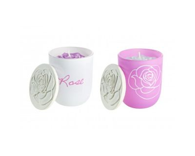CANDELA PROF ROSES IN BICCHIERE ASS2