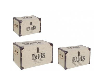 SET3 BAULI TRAVEL PARIS CORDA