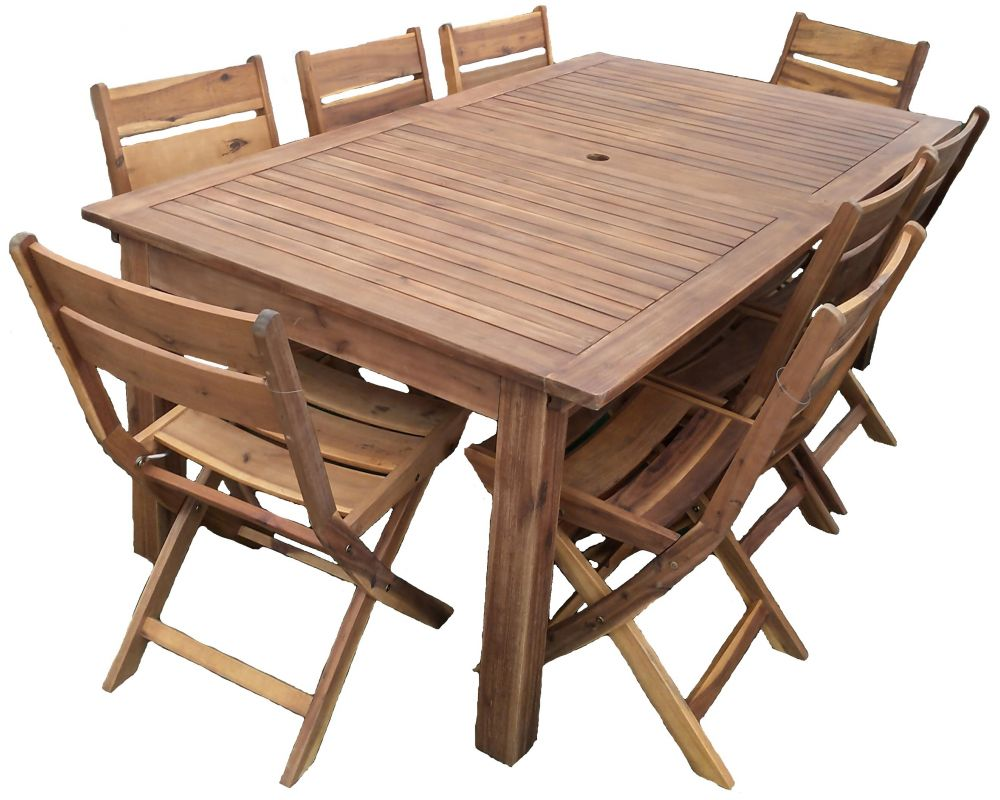 Tavolo Allungabile In Legno Con 4 Sedie.Tavolo Da Giardino Ocale Allungabile In Acacia Con 4 Sedie