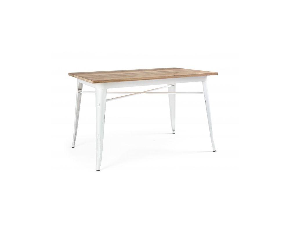 Tavolo Antico Bianco.Tavolo Minnesota Bianco Antico 80x120