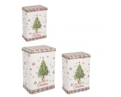 SET3 SCATOLA CHRISTMAS TREE RETT ALTA