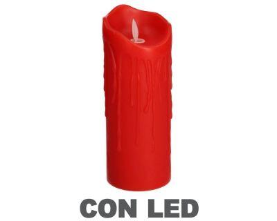 CANDELA LED ROSSO H20