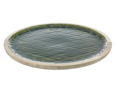 Piatto decorativo mangus verde
