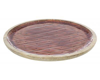 Piatto decorativo mangus rosso