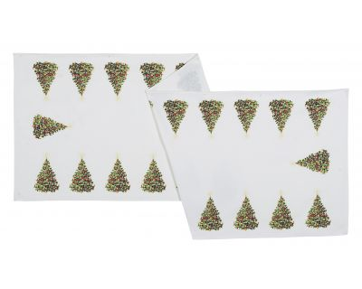 Runner xmas tree bianco 150x50