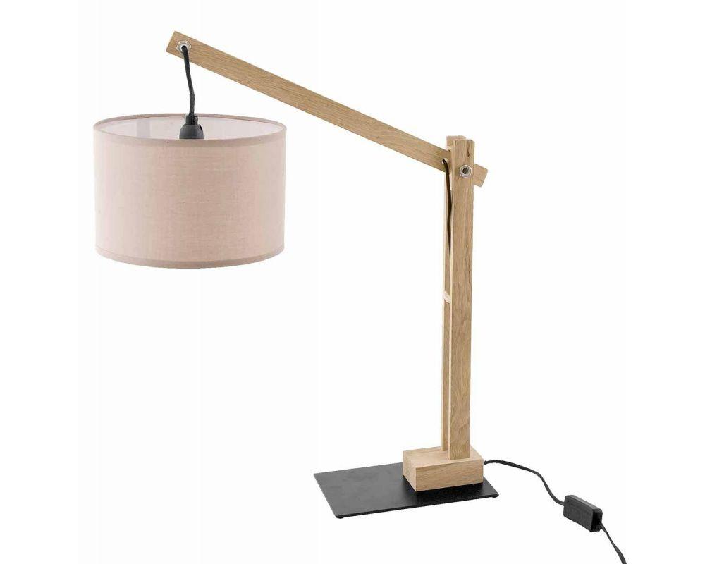 LAMPADA TAV. NATURA BEIGE H55
