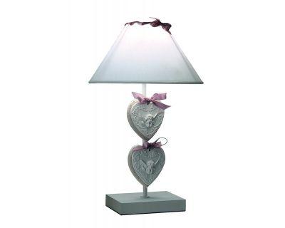 LAMPADA TAV. HEART LEGNO BIANCO-BEIGE