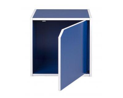 Cubo con anta composite blu