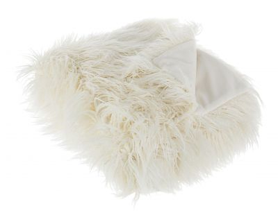 Plaid alesha bianco 120x150
