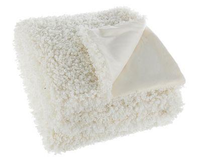 Plaid curly bianco 120x150
