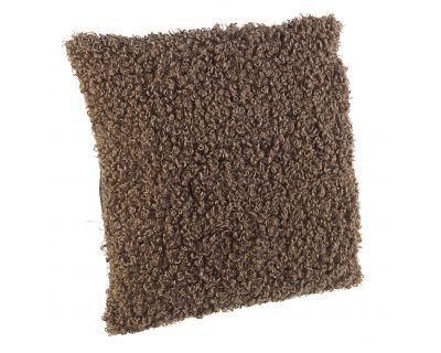 Cuscino curly marrone 45x45