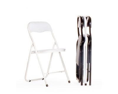 Sedia round pieghevole bianco