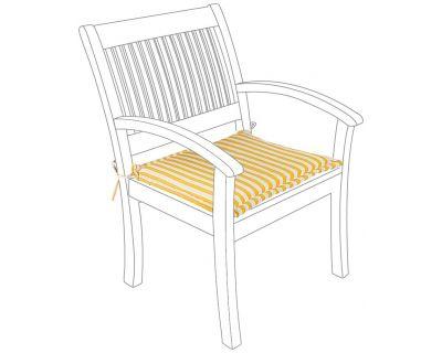 Cuscino righe giallo poltrona