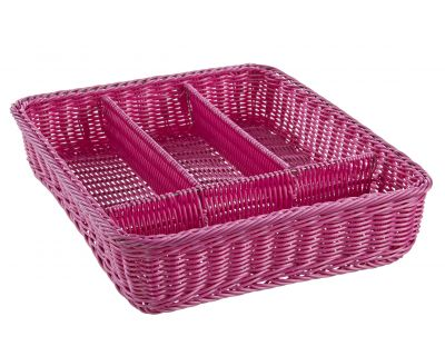 Porta posate party rosa