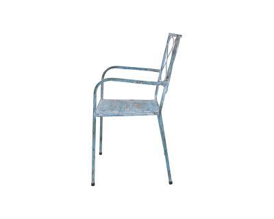 Sedia metallo blue
