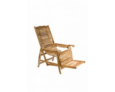 Sedia sdraio in legno