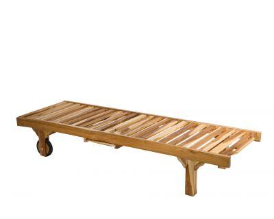 Lettino prendisole in legno