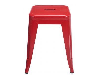 Cindy - sgabello basso rosso
