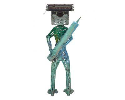 Robot alieno con macchina...