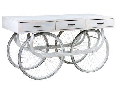 Consolle bicicletta bianca...