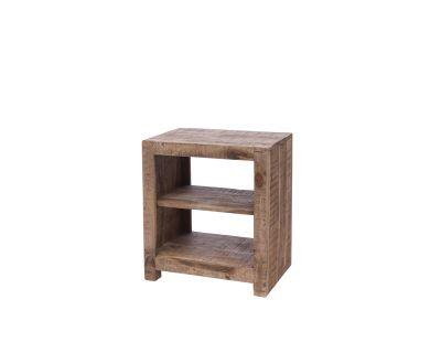 Comodino 2 ripiani in legno
