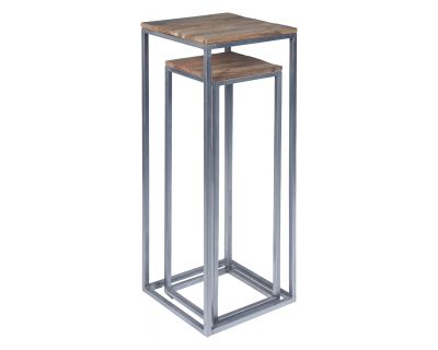 Tavolino alto in legno e...