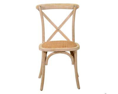 Sedia legno cross naturale...