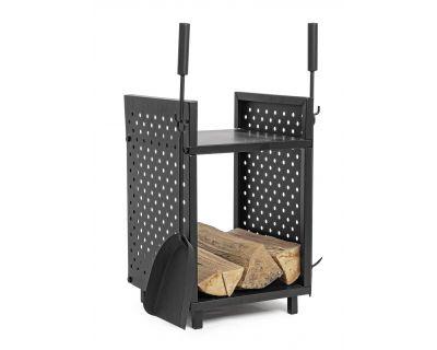 Porta legna con accessori...