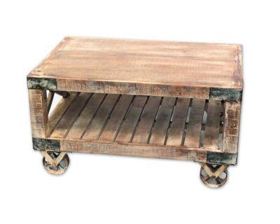 Tavolino industrial legno...
