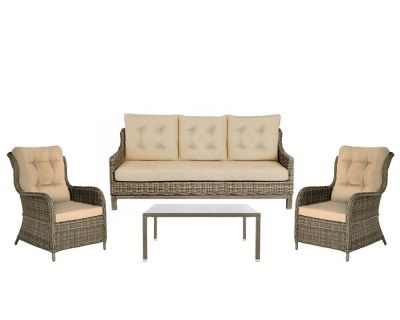 salotto California taupe rattan c/cuscini