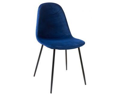 Paddy - sedia velluto blue