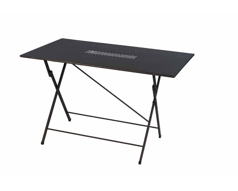 Tavolo in metallo richiudibile da giardino 120x80