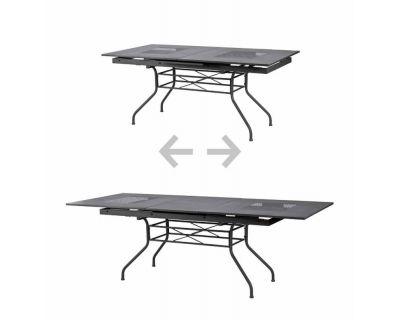 Tavolo in metallo da giardino estensibile 170/220X90
